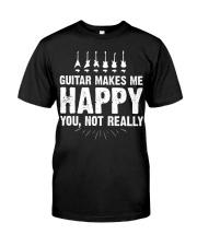 Guitar Makes Me Happy 2 Classic T-Shirt front