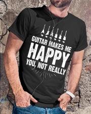 Guitar Makes Me Happy 2 Classic T-Shirt lifestyle-mens-crewneck-front-4