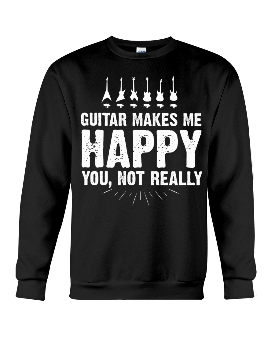Guitar Makes Me Happy 2 Crewneck Sweatshirt