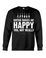 Guitar Makes Me Happy 2 Crewneck Sweatshirt front