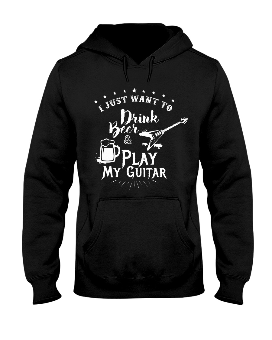 Drink Beer and Play Guitar Hooded Sweatshirt