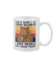 That's What I Do I Drink Bourbon I Hate People Mug thumbnail