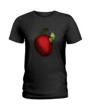 Caterpillar and Apple Ladies T-Shirt thumbnail