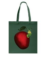 Caterpillar and Apple Tote Bag thumbnail