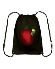 Caterpillar and Apple Drawstring Bag thumbnail