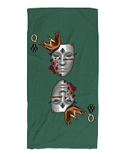 Queen of Clubs 3d Design Beach Towel front