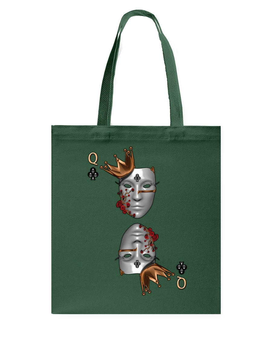 Queen of Clubs 3d Design Tote Bag