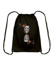 Queen of Clubs 3d Design Drawstring Bag front