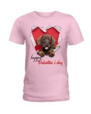DACHSHUND VALENTINE'S Ladies T-Shirt tile