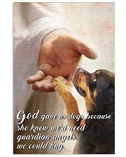 God gave Rottweiler 11x17 Poster front