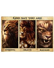 Lion warrior Poster Limited Edition 36x24 Poster front