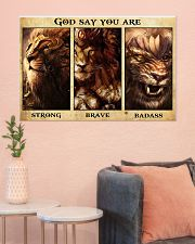 Lion warrior Poster Limited Edition 36x24 Poster poster-landscape-36x24-lifestyle-18