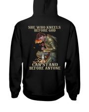 She who kneels before god - Back Hooded Sweatshirt tile