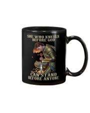 She who kneels before god - Back Mug tile