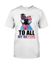 To All MyHaters Pitbull Dog T-shirt Classic T-Shirt front