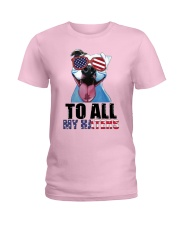 To All MyHaters Pitbull Dog T-shirt Ladies T-Shirt tile