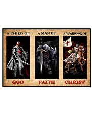Warrior of Christ Knight Templar Poster 17x11 Poster front