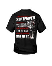 I was born in September Youth T-Shirt tile