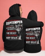 I was born in September Hooded Sweatshirt apparel-hooded-sweatshirt-lifestyle-back-134