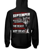 I was born in September Hooded Sweatshirt back