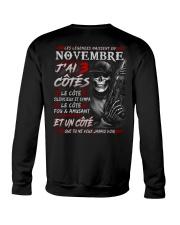 Les Légendes Naissent En Novembre Crewneck Sweatshirt tile