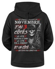 Les Légendes Naissent En Novembre Hooded Sweatshirt apparel-hooded-sweatshirt-ghosted-back-01