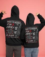 Les Légendes Naissent En Novembre Hooded Sweatshirt apparel-hooded-sweatshirt-lifestyle-back-135