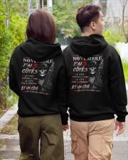 Les Légendes Naissent En Novembre Hooded Sweatshirt apparel-hooded-sweatshirt-lifestyle-back-145