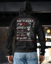 Les Légendes Naissent En Novembre Hooded Sweatshirt apparel-hooded-sweatshirt-lifestyle-back-163