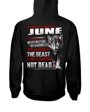 I was born in June Hooded Sweatshirt back