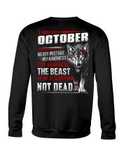 I was born in October Crewneck Sweatshirt tile