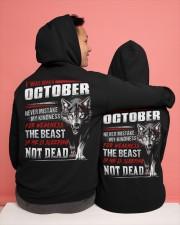 I was born in October Hooded Sweatshirt apparel-hooded-sweatshirt-lifestyle-back-134