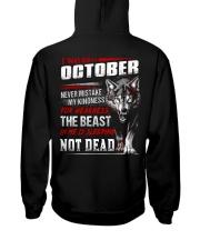 I was born in October Hooded Sweatshirt back