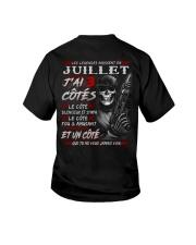 Les Légendes Naissent En Juillet Youth T-Shirt tile