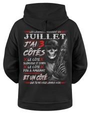 Les Légendes Naissent En Juillet Hooded Sweatshirt apparel-hooded-sweatshirt-ghosted-back-01