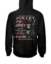 Les Légendes Naissent En Juillet Hooded Sweatshirt back