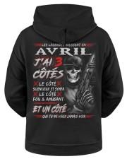 Les Légendes Naissent En Avril Hooded Sweatshirt apparel-hooded-sweatshirt-ghosted-back-01