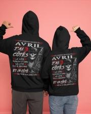 Les Légendes Naissent En Avril Hooded Sweatshirt apparel-hooded-sweatshirt-lifestyle-back-135