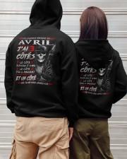 Les Légendes Naissent En Avril Hooded Sweatshirt apparel-hooded-sweatshirt-lifestyle-back-149