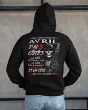 Les Légendes Naissent En Avril Hooded Sweatshirt apparel-hooded-sweatshirt-lifestyle-back-162
