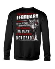 I was born in February Crewneck Sweatshirt tile