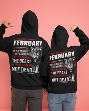 I was born in February Hooded Sweatshirt apparel-hooded-sweatshirt-lifestyle-back-135