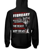 I was born in February Hooded Sweatshirt back