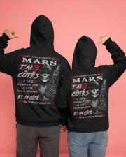 Les Légendes Naissent En Mars Hooded Sweatshirt apparel-hooded-sweatshirt-lifestyle-back-135