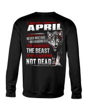 I was born in April Crewneck Sweatshirt tile