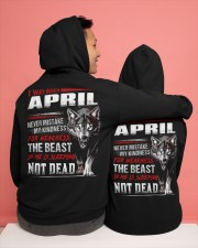 I was born in April Hooded Sweatshirt apparel-hooded-sweatshirt-lifestyle-back-134