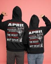 I was born in April Hooded Sweatshirt apparel-hooded-sweatshirt-lifestyle-back-135