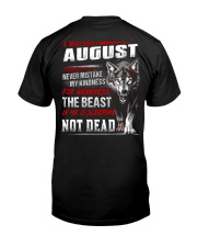 I was born in August Classic T-Shirt tile