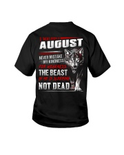 I was born in August Youth T-Shirt tile
