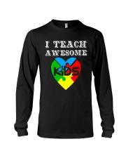 I TEACH AWESOME KIDS AUTISM AWARENESS DAY SHIRT Long Sleeve Tee thumbnail